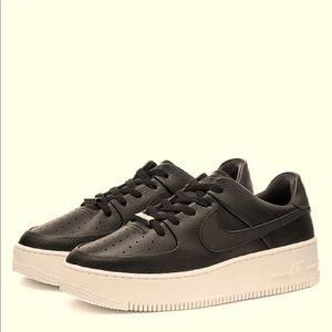 NIKE AIR FORCE 1 SAGE LOW BLACK Sneakers Shoes